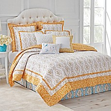 image of Dena™ Home Dream Reversible Quilt in Yellow/White