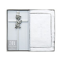 image of Elegant Baby® Embroidered Bible and Cross Gift Set in White