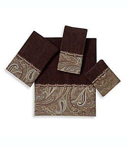 Toalla fingertip de algodón Avanti Bradford® color café java