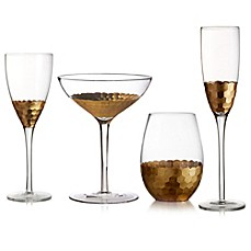 image of Fitz and Floyd® Daphne Stemware Collection in Gold