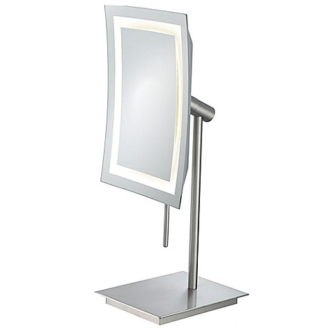 young 3x cool light led makeup mirror in chrome from bed bath beyond. Black Bedroom Furniture Sets. Home Design Ideas