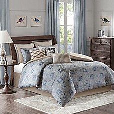 image of Bombay® Benedict Comforter Set in Blue