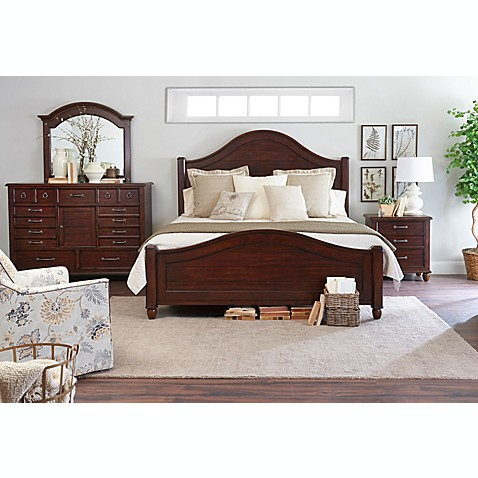 klaussner blue ridge 4 piece bedroom set in cherry bed bath