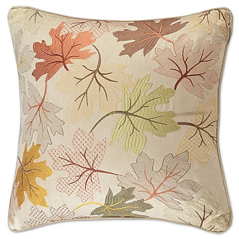 Madison Square 18-Inch Decorative Pillows : Madison Park Fallen Leaves 20-Inch Square Throw Pillow in Tan - Bed Bath & Beyond
