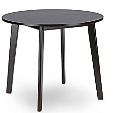 image of Baxton Studio Debbie Dining Table in Dark Brown