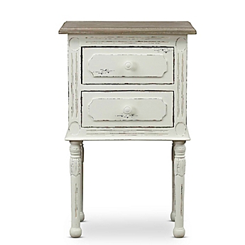 Merveilleux Image Of Baxton Studio Anjou Nightstand In White/Brown