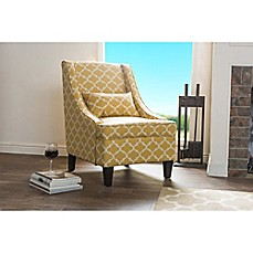image of Baxton Studio Lotus Chair in Yellow