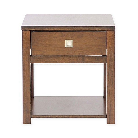 baxton studio new jersey end table in brown bed bath