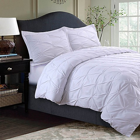 Buy Tribeca Living Sydney Pintuck King Duvet Cover Set In