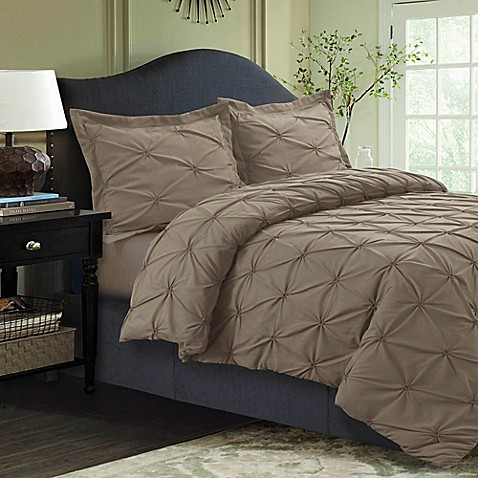 Buy Tribeca Living Sydney Pintuck Twin Duvet Cover Set In