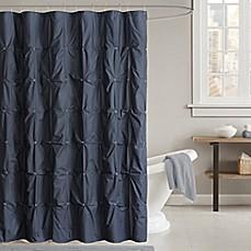 INK+IVY Masie 72 Inch Shower Curtain In Navy
