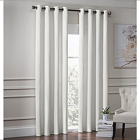 buy garland 63 inch lined grommet top window curtain panel in white from bed bath beyond. Black Bedroom Furniture Sets. Home Design Ideas