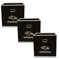 image of NFL Baltimore Ravens 3-Pack Storage Bin