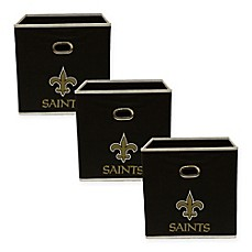 image of NFL New Orleans Saints 3-Pack Storage Bin