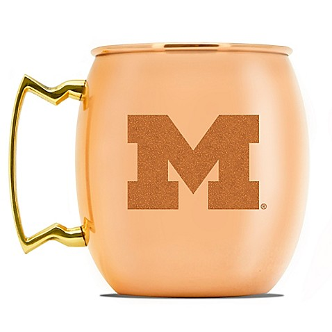 university of michigan 16 oz copper moscow mule mug bed bath beyond. Black Bedroom Furniture Sets. Home Design Ideas