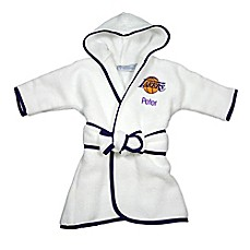 Personalized baby bath gifts gift sets personalized baby image of designs by chad and jake nba los angeles lakers personalized hooded robe in white negle Images