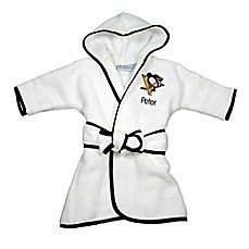 image of Designs by Chad and Jake NHL Pittsburgh Penguins Personalized Hooded Robe in White