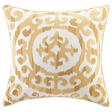 20 Inch Square Decorative Pillows : INK+IVY Mead 20-Inch Square Decorative Pillow in Yellow - Bed Bath & Beyond
