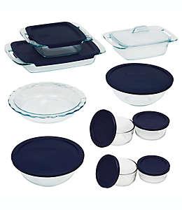 Refractarios de vidrio Pyrex®, Set de 19