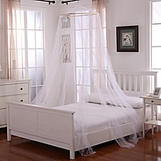 image of Oasis Round Hoop Sheer Bed Canopy
