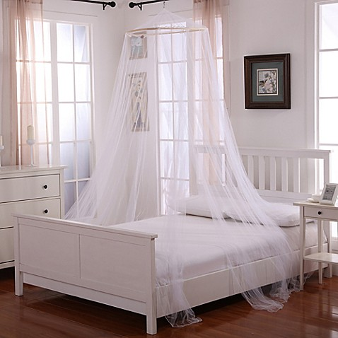 image of Oasis Round Hoop Sheer Bed Canopy. Bed Canopies   Mosquito Nets   Bed Bath   Beyond