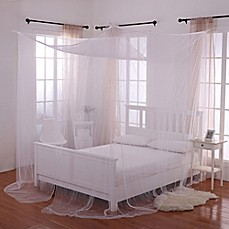 image of Palace 4-Poster Bed Canopy & Bed Canopies u0026 Mosquito Nets - Bed Bath u0026 Beyond