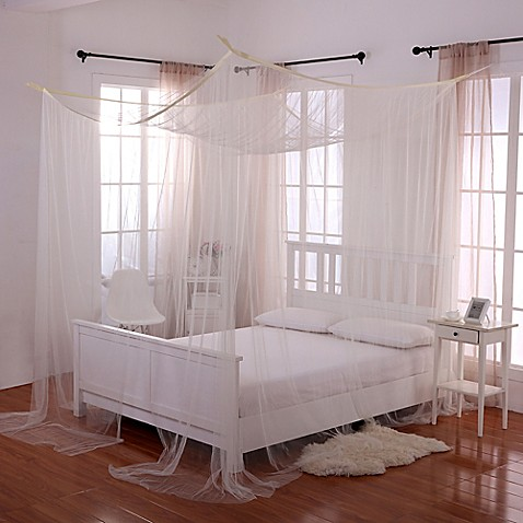 Buy Palace 4 Poster Bed Canopy In Ecru From Bed Bath Beyond