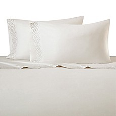 image of Natori Wisteria Flat Sheet in White
