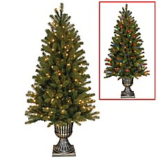 image of Feel Real® Downswept Douglas Fir Pre-Lit Christmas Tree with 300 Dual LED Lights
