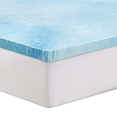 image of serta 3inch gel swirl memory foam mattress topper