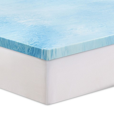 Serta 3 Inch Gel Swirl Memory Foam Mattress Topper Bed