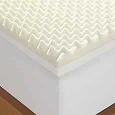 Serta 4 Inch Memory Foam Mattress Topper In White