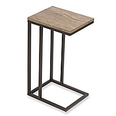 C Table With Metal Base