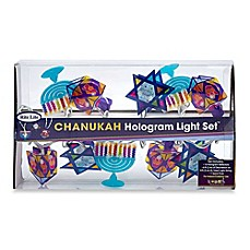 Chanukah Hologram 10-Light String Light Set  sc 1 st  Bed Bath u0026 Beyond & Hanukkah Decorations - Hanukkah Dreidel Lights u0026 Outdoor Decor ...