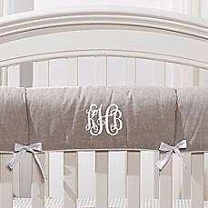 image of Liz And Roo Linen Crib Rail Guard in Flax