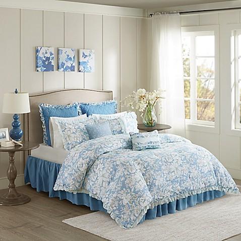 buy madison park sophie california king duvet cover set in blue from bed bath beyond. Black Bedroom Furniture Sets. Home Design Ideas