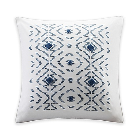 White Square Throw Pillows : INK+IVY Cybil Square Throw Pillow in White - Bed Bath & Beyond