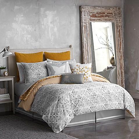 Seville Tiled Reversible Comforter Set In Grey Bed Bath