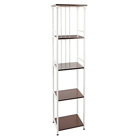 buy silverwood 5 tier bathroom floor shelf in white from