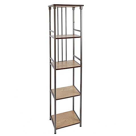 buy silverwood 5 tier bathroom floor shelf in gunmetal