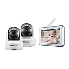 image of Samsung BrightVIEW Duo HD Video Baby Monitor with 5-Inch Color Touch Screen