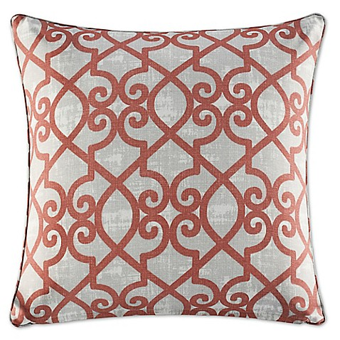 20 Inch Square Decorative Pillows : Buy Madison Park Daven 20-Inch Square Throw Pillow in Coral from Bed Bath & Beyond