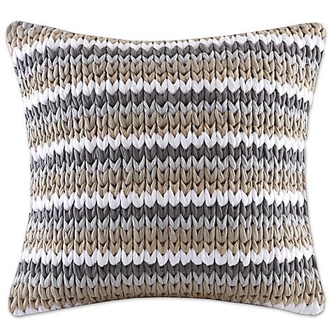 20 Inch Square Decorative Pillows : Madison Park Stripe Woven 20-Inch Square Decorative Pillow - Bed Bath & Beyond