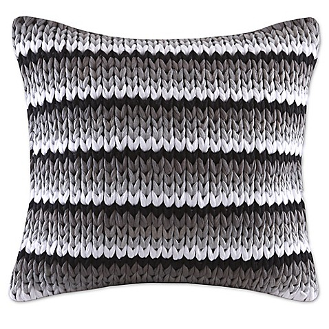 Madison Park Stripe Woven 20-Inch Square Decorative Pillow - Bed Bath & Beyond