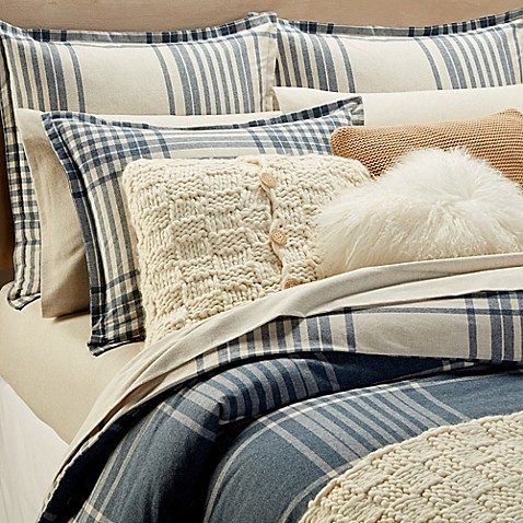 Buy Ugg 174 Flannel Heather Plaid King Duvet Cover In White