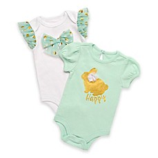 image of Baby Starters® 2-Pack Happy Bunny Bodysuits