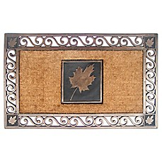 image of 22-Inch x 34-Inch Maple Leaf Coir Door Mat in Copper