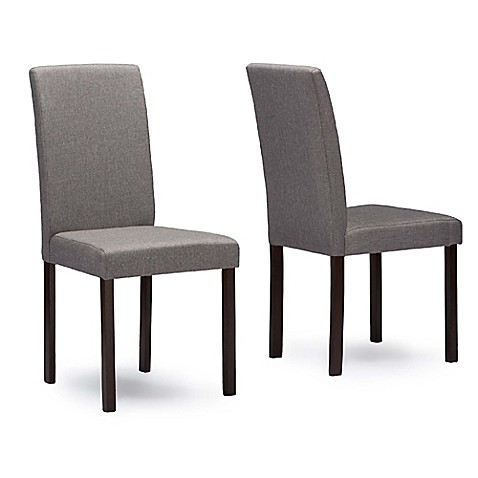 buy baxton studio andrew chairs in grey set of 2 from