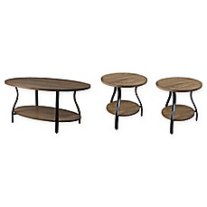 image of Baxton Studio Newcastle 3-Piece Table Set