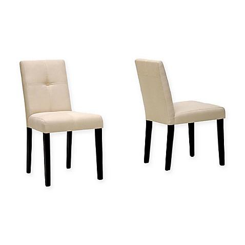 baxton studio elsa chairs in beige set of 2 bed bath
